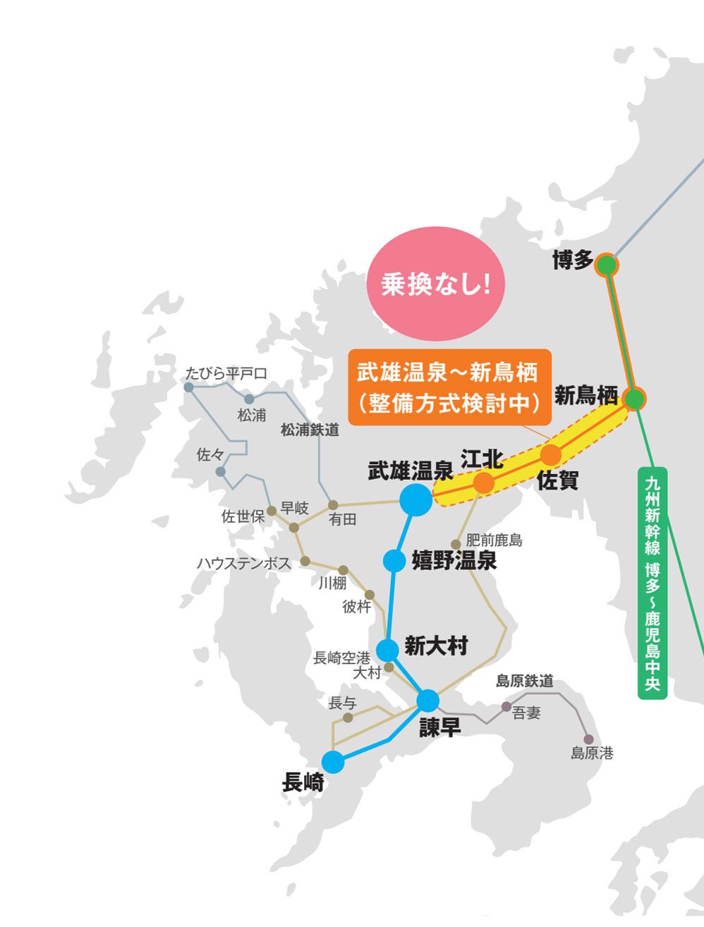 フル規格後 新幹線マップ